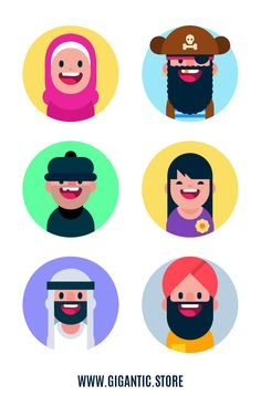 Learn how to animate your own personalized character. Flat Design Icons, Design Logo, Design Poster, Icon Design, Symbol Design, Design Design, Character Flat, Simple Character, Flat Design Illustration