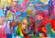 guillaume pelican (©2014 artmajeur.com/neofauve) peinture acrylique sur papier .