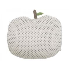 Apple Pillow | White + Indigo Dots%0A%0D%0AProduct Details: %0D%0AMaterials: baby Alpaca wool%0D%0AMade in: Peru under fair trade conditions%0D%0ACare: gently spot clean%0D%0ADimensions: 31 x 14cm (16 x 13 inches)%0D%0A...
