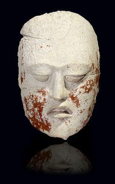 Maya Stucco Head,. Late Classic, ca. A.D. 550-950