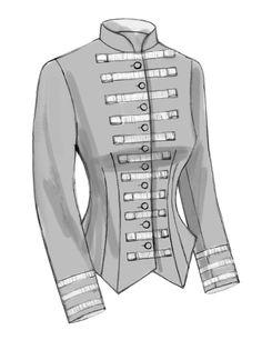 B6400 Misses' Boned, Back-Pleat Jackets
