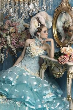 Haute Couture Wedding Dresses by Stella de Libero Yes this is very ruffly, but I don't see much Victorian influence. At best this is modern...