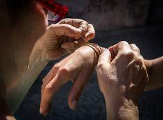 Chiara tying bracelet  sea silk