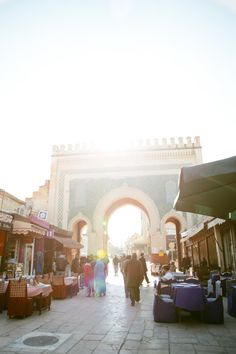 Blue Gate in Fes | photography by http://www.sasithonphotography.com/