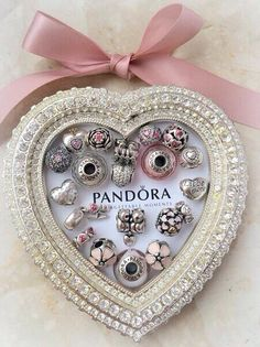 Authentic Pandora Bracelet With Charms Pink I Love You To