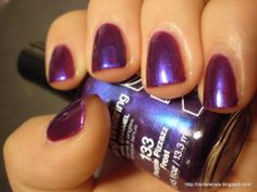 NYC Purple Pizzazz Frost (swatched one 1 nail) Samantha