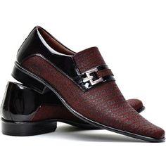 60cf05208a96e Sapato Social Verniz Masculino Super Conforto Sapatofran - R$ 169,91 Bota Social  Masculina