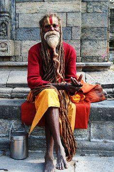 Baba in Kathmandu - Sadhu - Wikipedia, the free encyclopedia Figure Photography, Street Photography, Mind Over Body, Yoga India, Rasta Man, India Culture, Religion, Meditation, Crazy Colour