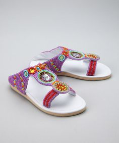 Take a look at this Purple Medallion Sandal by Fairy Dreams on #zulily today!