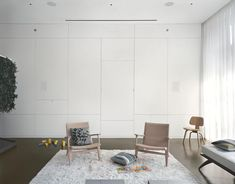 Comfortable Relax Place Design with Wall Storage and Rug