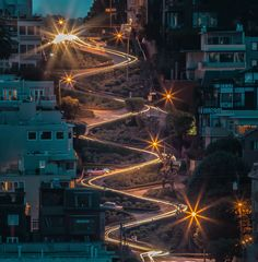 Contributor Michael Moir captured this shot standing on top of Coit Tower facing Lombard Street in San Francisco.