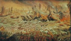 Battle of Bach Dang The Battle of Bạch Đằng (Vietnamese: Trận Bạch Đằng, Chữ nôm: 陣白藤) was one of the greatest victories in Vietnamese military history. Ab Blood Type, Kublai Khan, Vietnam, Silk Painting, Military History, Warfare, Archaeology, Weapons, Battle