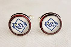 Tampa Bay Rays Cuff Links made from Baseball Trading Cards  #TampaBayRays