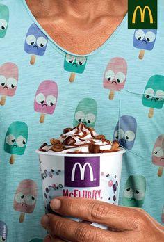 McFlurry Ads makes ice cream sad in these fun McDonald's Ads.