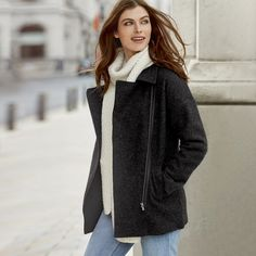 Boiled Wool Coat | The White Company | White Company | Pinterest