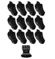 6-Pack FDNY Baby Socks Non Slip Grip Toddler Sock White 3-5