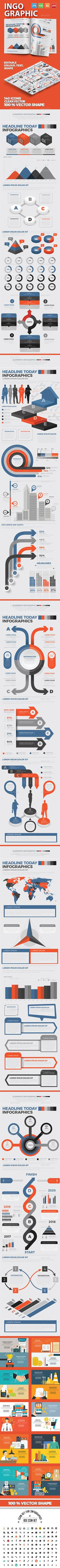 #Infographics #Elements - Infographics Download here: https://graphicriver.net/item/infographics-elements/19501705?ref=alena994