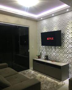 Sala pequena decorada: 70 inspirações e ideias para você! Home Design Decor, Interior Design Living Room, Living Room Designs, Living Room Decor, Bedroom Decor, Home Decor, Fresh To Go, Tv Wall Decor, Ceiling Design