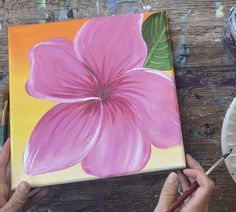 Apple Painting, Brush Drawing, Acrylic Tutorials, Apple Barrel, Happy Paintings, Small Leaf, Step By Step Painting, Hibiscus Flowers, Little White