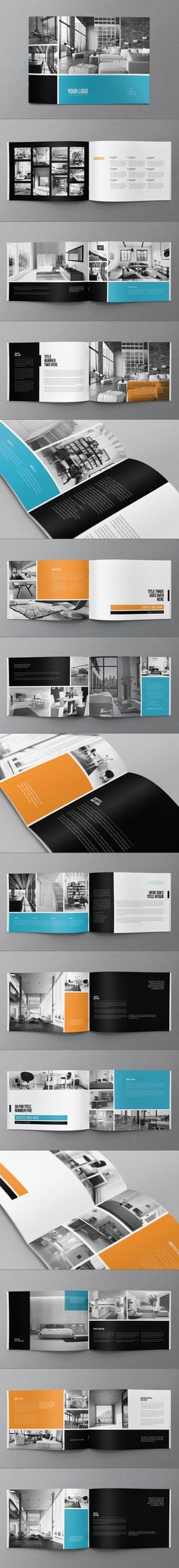 Minimal Modern Brochure. Download here: http://graphicriver.net/item/minimal-modern-brochure/8819275?ref=abradesign #brochure #design: