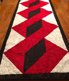 Chistmas Holiday Quilted Table Runner  18.75 x