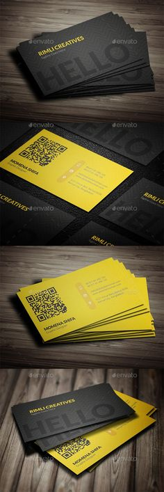 Bold neon yellow and black minimalist business card for a sleek business card design template psd download here httpsgraphicriveritemsleek business card design17325532refksioks reheart Images