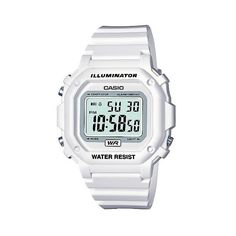 Casio Women's Digital Watch (262.270 IDR) ❤ liked on Polyvore featuring jewelry, watches, jewelry-miscellaneous, white, wristwatch, white digital watch, polish jewelry, digital watch, white wrist watch and white watches