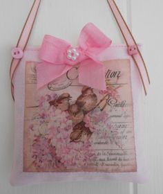 Cottage chic Lavender sachet/Home decor by picocrafts on Etsy, $6.50