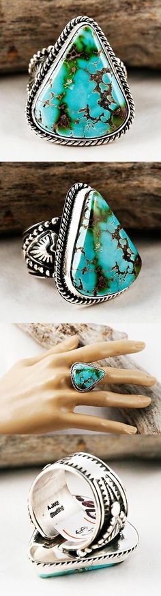 Native American pre-1935 165137: Albert Jake Sacred Earth Turquoise Ring Sterling Silver Native American 8 9 -> BUY IT NOW ONLY: $358.56 on eBay!