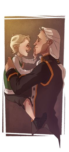 Daddy's+Little+Death+Eater+by+noodlerface.deviantart.com+on+@deviantART   Lucius and Draco in happier days