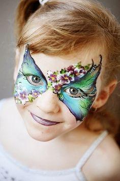 fasching kostüme kinder maske malen