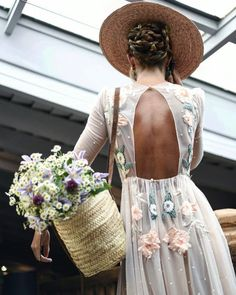 flower picking and floral dress