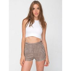 "HOUNDSTOOTH SHORTS Size medium 12"" length 1.5"" inseam high waisted    **bundles save 10%** no trades/no modeling/no asking for lowest American Apparel Shorts"