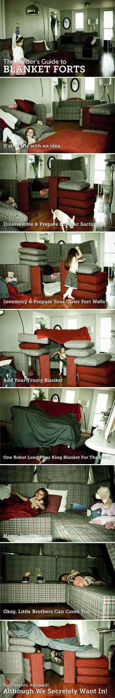 How to build a Blanket Fort (using the ultimate in blanket fort furniture, aka Sactionals) See more on my blog LifeOnACouch.com