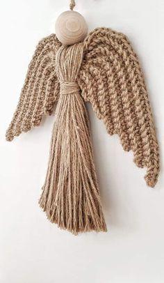 @DLThandmade #madewithlove #homedecor- crochet rope angel wings- size 50 cm Crochet Rope, Angel Wings, Handmade, Home Decor, Fashion, Homemade Home Decor, Hand Made, Moda, La Mode