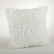 Juneau Faux Fur Throw Pillow