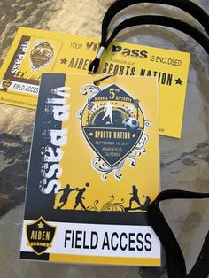 Sport themed invitation (VIP pass)