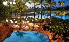 reception on the Big Deck by the waterfalls. Atlantis Bahamas!!