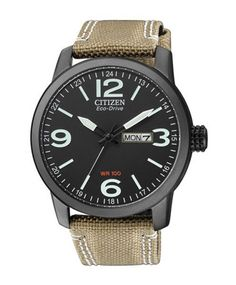 ΡΟΛΟΓΙΑ CITIZEN : CITIZEN BM8476-23E Eco-Drive Beige Fabric Strap