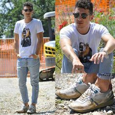 Alessio, blogger of 5wblog. Beautiful outfit with #noplacewithoutagenius sneakers