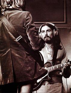 onlypaulmccartney:  George Harrison & Eric Clapton, 1969.