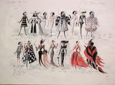 concept design for Cruella costumes