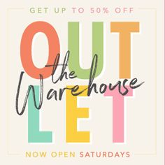 Warehouse Outlet!