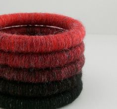 Yarn Wrapped Stacking Bangles