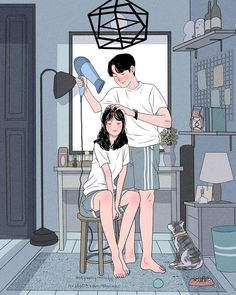 Illustrations Discover This Korean Artist Giving Serious Through His Illustration Drawing Painting Love Couple Art Love Couple Cute Couple Drawings Cute Drawings Art And Illustration Cartoon Art Styles Dibujos Cute Couple Cartoon Korean Artist Love Cartoon Couple, Cute Love Cartoons, Anime Love Couple, Cute Anime Couples, Cartoon Love Photo, Anime Couples Cuddling, Anime Couples Hugging, Paar Illustration, Couple Illustration