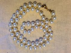 1950s Glass Pearl Necklace by theatticshop on Etsy, $18.00