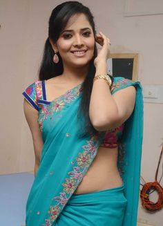 Anasuya Hot in Saree