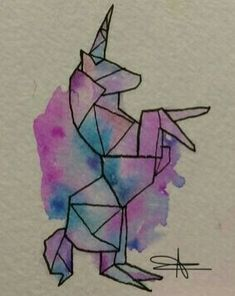 Cool Art Drawings, Pencil Art Drawings, Art Drawings Sketches, Easy Drawings, Geometric Drawing, Geometric Art, Origami Art, Watercolor Artwork, Doodle Art