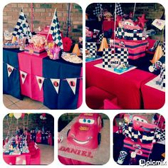 Cars Party - Another cute setup and Candy Buffet by Voila Functions www.facebook.com/voilafunctions