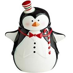 Lissa does love penguins!! Holiday Cookie Jar